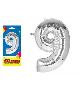 Balónik fóliový č. 9, 40cm
