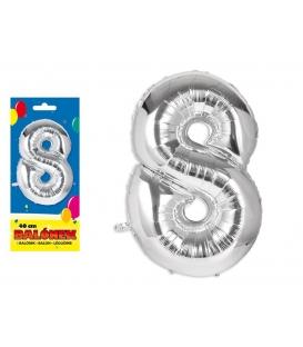 Balónik fóliový č. 8, 40cm