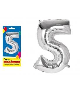 Balónik fóliový č. 5, 40cm