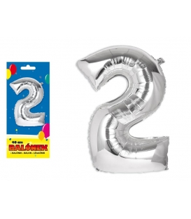 Balónik fóliový č. 2, 40cm