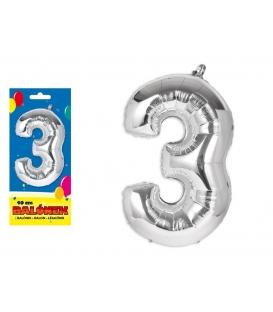 Balónik fóliový č. 3, 40cm
