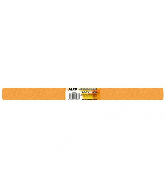 1f60a2fe9a Krepový papier rolka 50x200cm oranžový svetlý
