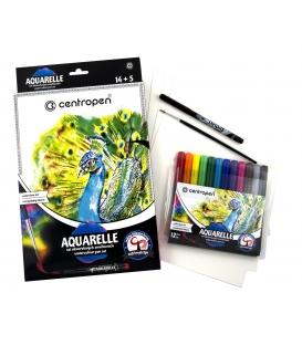 Značkovače aquarelle rozmývateľné štetcové hroty 9383/14