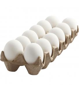 Veľkonočné vajíčka plastové 6cm biele - 12ks