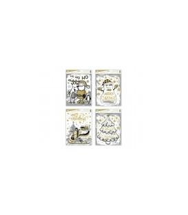 Okenná fólia Vianočná s glitrami