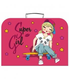 Detský kufrík 35 cm motív SUPER GIRL