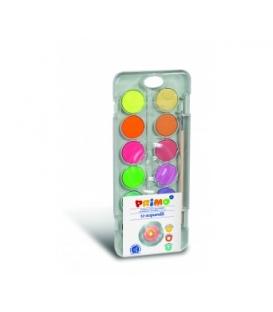 Vodové farby 12 farieb - 8 metalických + 4 fluo 30 mm + štetec