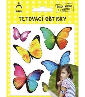 Tetovačky detské farebné motýle