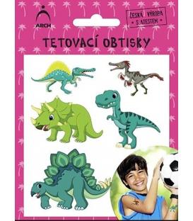 Tetovačky detské farebné dinosaury 1