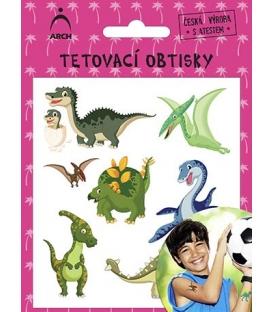 Tetovačky detské farebné dinosaury 2