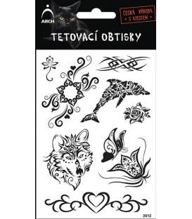 Tetovačky čierne kvet