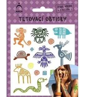 Tetovačky detské farebné Mayské symboly 2