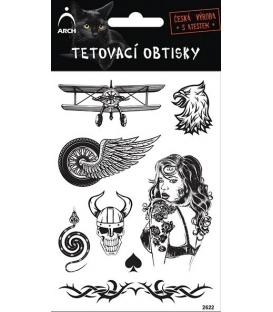 Tetovačky čierne Dvojplošník