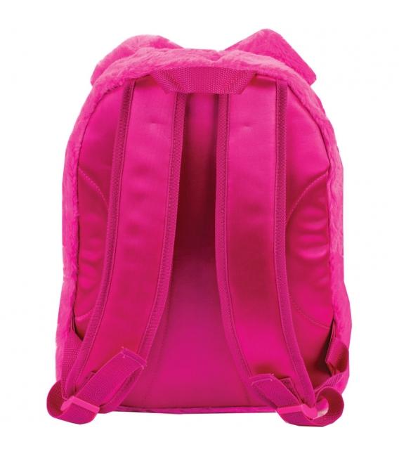 Batoh rúžový chlpatý