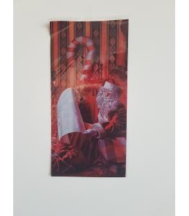Sáčok Mikuláš čítajúci červený 20x40cm