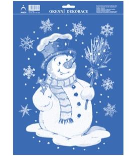 Vianočná okenná fólia snehuliak