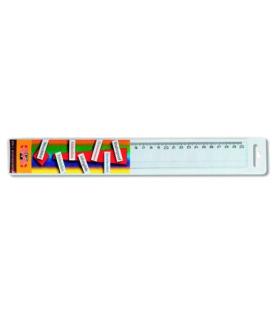 Pravítko 30 cm transparentné, 742 674 nezlomiteľné