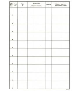 Registratúrny denník A4 031