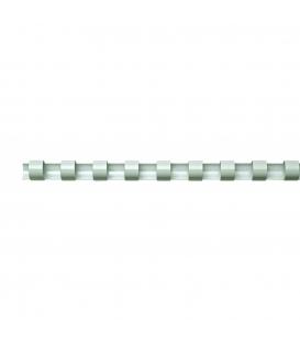 Hrebeň pre krúžk. väzbu 22mm biely, 50ks