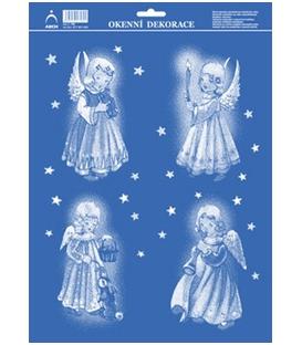 Vianočná okenná fólia anjeli