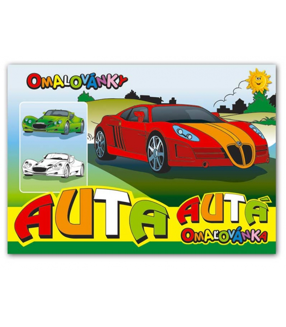 Maľovanka A5 - Autá