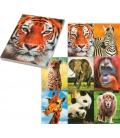 Blok A7 lepený 30 listový čistý, motív 3D divoké zvieratá