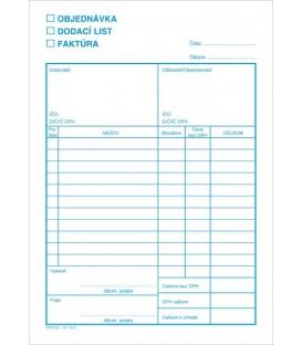 Podnikateľský blok 101165 - objednávka, dodací list, blok, A5 NCR, 100 listov
