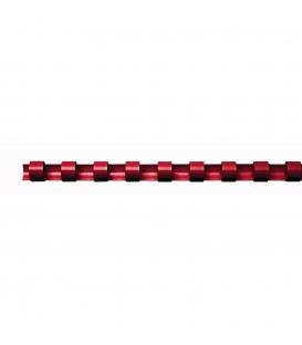 Hrebeň pre krúžk. väzbu 14mm červený, 100ks