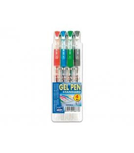 Perá gélové 4-farebné