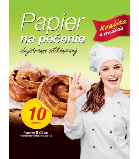 Papier na pečenie 30 x 45 cm, 10 ks