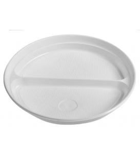 Tanier 22 cm plytký biely PP 2-dielny