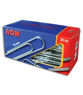 Spony kancelárske 75 mm RON 475, 25 ks