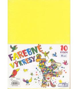 Výkres A4 125 g farebný mix 10 farieb, 10 ks