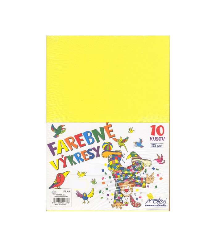 Vykres A4 125 G Farebny Mix 10 Farieb 10 Ks