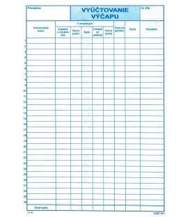 Vyúčtovanie výčapu A4 100 listov, M141/ 3 ks
