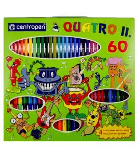 9396/60 súprava QUATRO II popisovače + farbičky + omalovanky