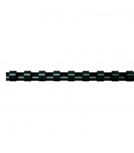 Hrebeň pre krúžk. väzbu 22mm čierny, 50ks