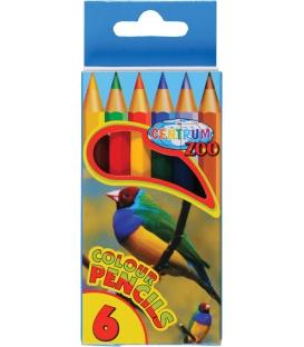 Farbičky polovičné 6ks s motívom Zoo