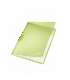 Obal A4 s klipom LEITZ COLOR CLIP Rainbow 41760055 zelený