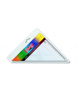 Trojuholník 45/177 s kolmicou transparentný nezlomiteľný, 744 200