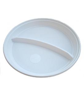 Tanier 22 cm plytký biely PS 2-dielny
