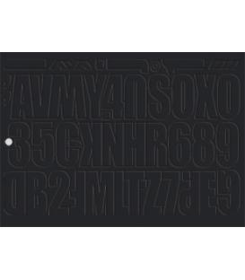 Nástenkové písmená a čísla, 4 hárky 35x25 cm, čierne 436