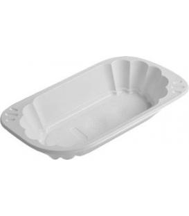 Miska 250 ml oválna biela plastová, 250 ks