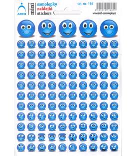 Samolepky Mini SMAJLÍCI modrý 12x17 cm, č. 166