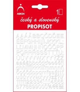 PROPISOT písmená - výška 7 mm, biely
