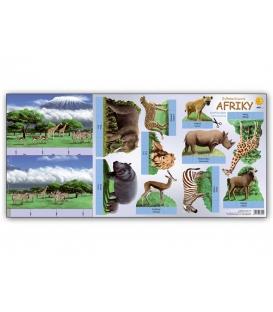 Vystrihovačky - Zvieratá Afriky