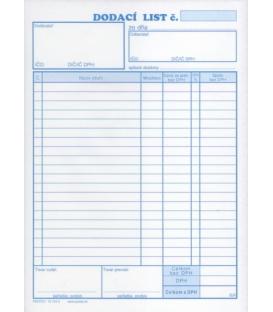 101245   DODACÍ LIST A5 NCR 20 POL BLOK 100 list.