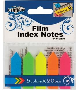 Záložky Neon 45x12mm 5far 100ks