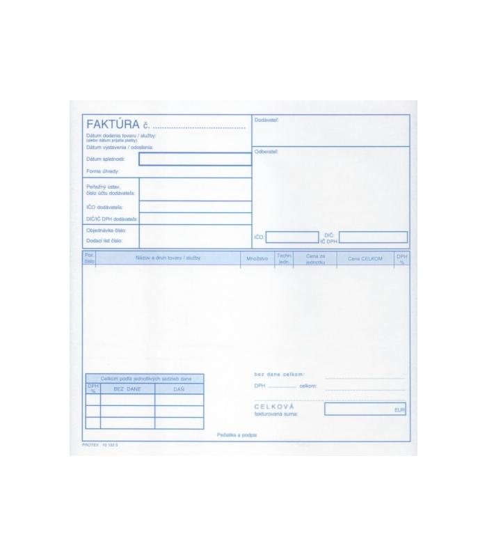 Faktúra Daňový Doklad 23 A4 Ncr