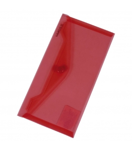 Plastový obal s cvokom DL červený